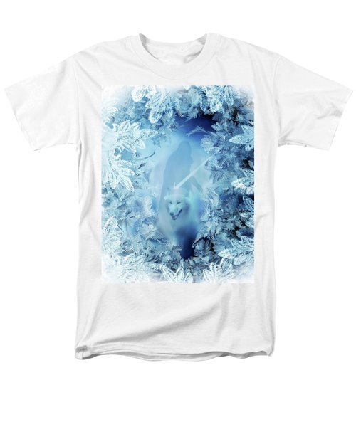 Winter Is Here - Jon Snow And Ghost - Game Of Thrones Men's T-Shirt  (Regular Fit) by Lilia D