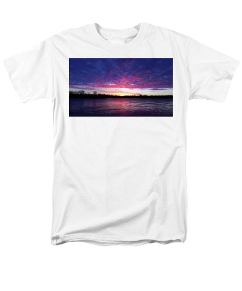 Winter Sunrise On The Wisconsin River Men's T-Shirt  (Regular Fit) by Brook Burling