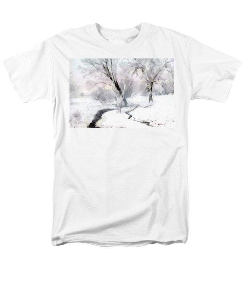 Men's T-Shirt  (Regular Fit) featuring the digital art Winter Trees by Francesa Miller