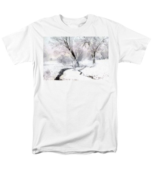 Winter Trees Men's T-Shirt  (Regular Fit) by Francesa Miller
