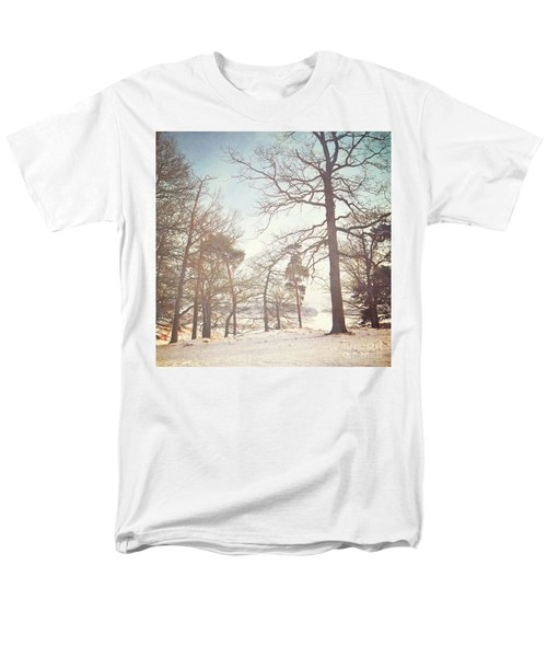 Men's T-Shirt  (Regular Fit) featuring the photograph Winter Trees by Lyn Randle