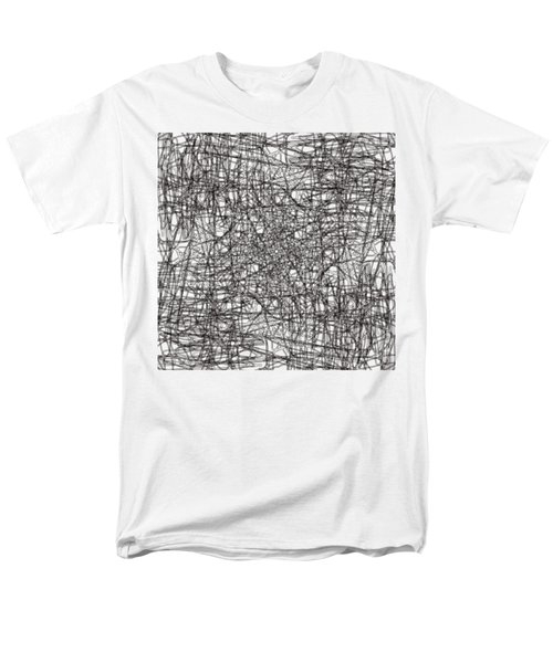 Men's T-Shirt  (Regular Fit) featuring the digital art Wired Abstraction by Eleonora Perlic