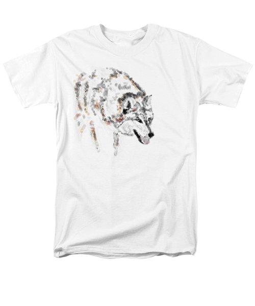 Wolf Men's T-Shirt  (Regular Fit) by Barbara Moignard