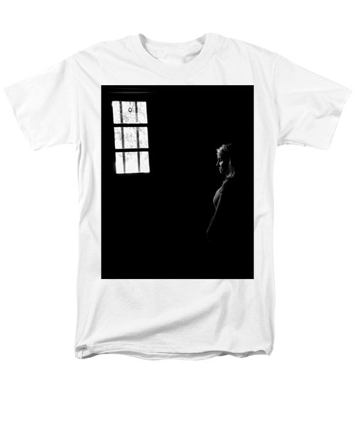 Woman In The Dark Room Men's T-Shirt  (Regular Fit) by Ralph Vazquez