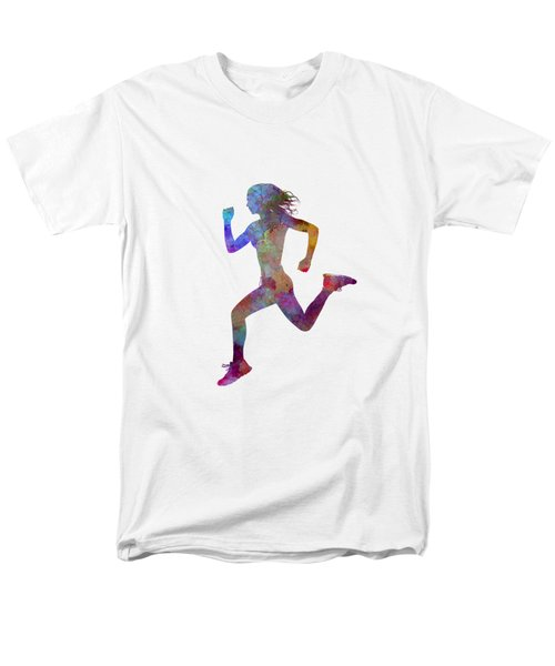 Woman Runner Running Jogger Jogging Silhouette 01 Men's T-Shirt  (Regular Fit) by Pablo Romero