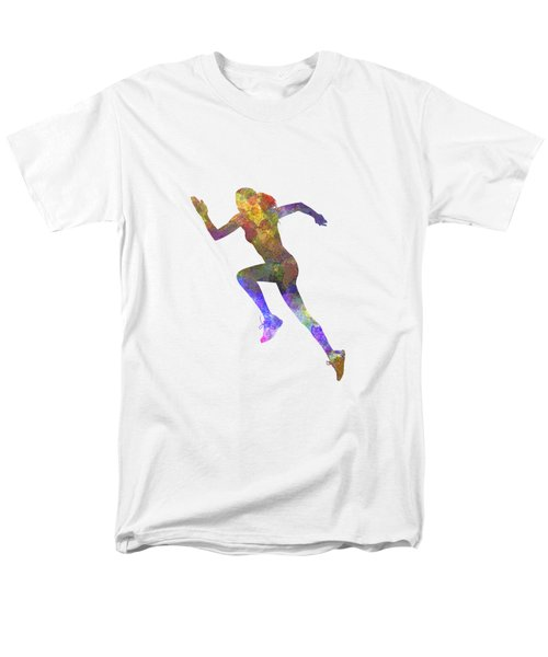 Woman Runner Running Jogger Jogging Silhouette 03 Men's T-Shirt  (Regular Fit) by Pablo Romero