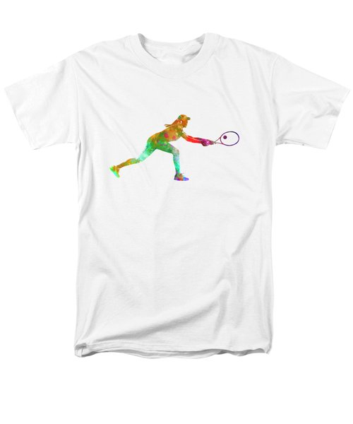 Woman Tennis Player Sadness 02 In Watercolor Men's T-Shirt  (Regular Fit) by Pablo Romero