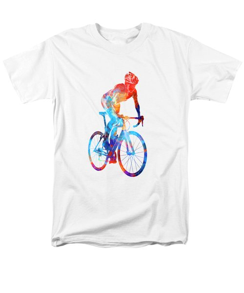 Woman Triathlon Cycling 06 Men's T-Shirt  (Regular Fit) by Pablo Romero