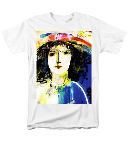 Woman With Party Hat Men's T-Shirt  (Regular Fit) by Amara Dacer