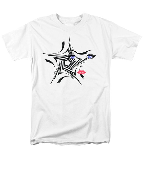 Men's T-Shirt  (Regular Fit) featuring the digital art Woman With Star Design by Christine Perry