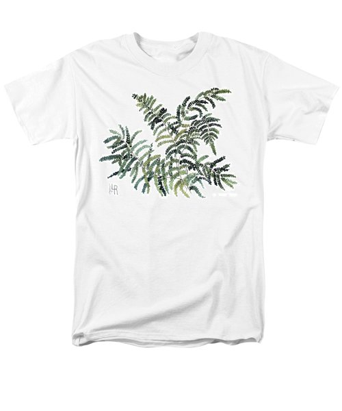 Woodland Maiden Fern Men's T-Shirt  (Regular Fit) by Laurie Rohner