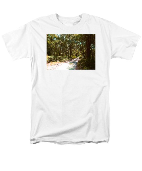 Men's T-Shirt  (Regular Fit) featuring the photograph Woodsy Trail by Ginny Schmidt