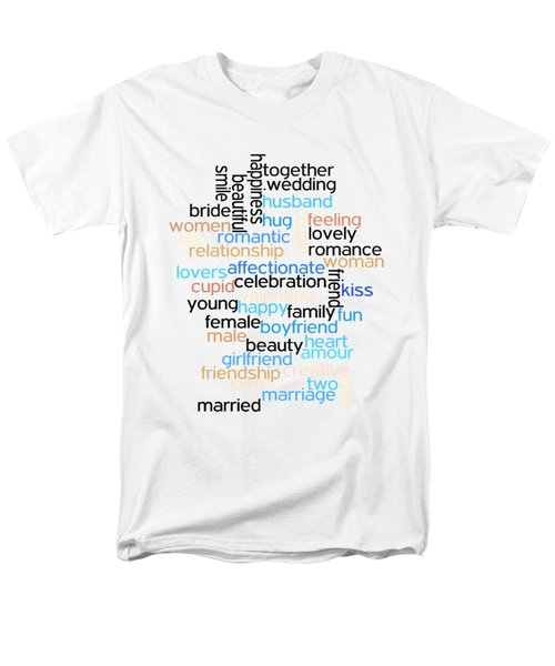 Men's T-Shirt  (Regular Fit) featuring the drawing Words Of Love by Bill Cannon