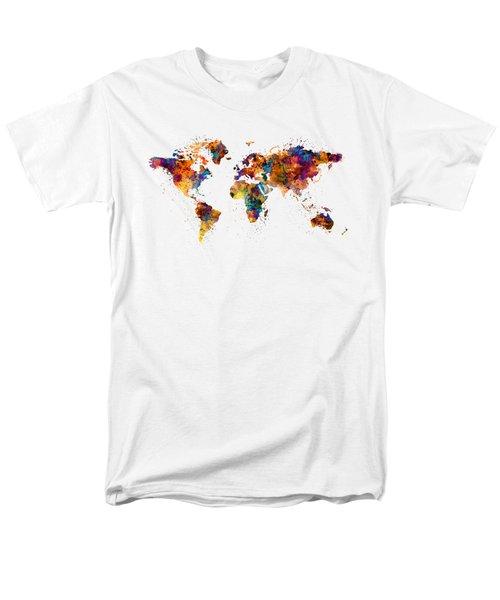 World Map Men's T-Shirt  (Regular Fit)