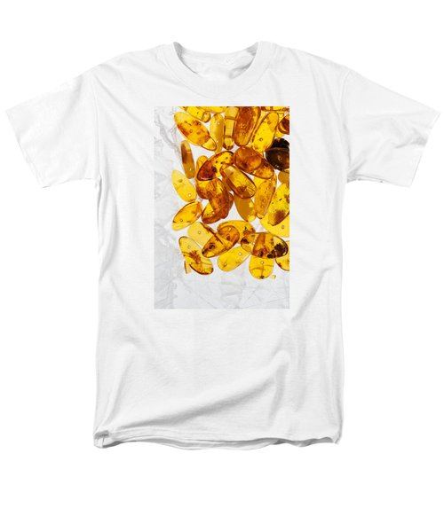 Men's T-Shirt  (Regular Fit) featuring the photograph Yellow Amber Stones  by Andrey  Godyaykin