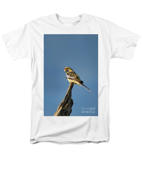 Men's T-Shirt  (Regular Fit) featuring the photograph Yellow Crimson Rosella by Douglas Barnard