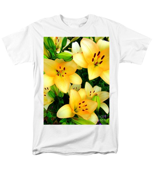 Men's T-Shirt  (Regular Fit) featuring the photograph Yellow Lilies 3 by Randall Weidner