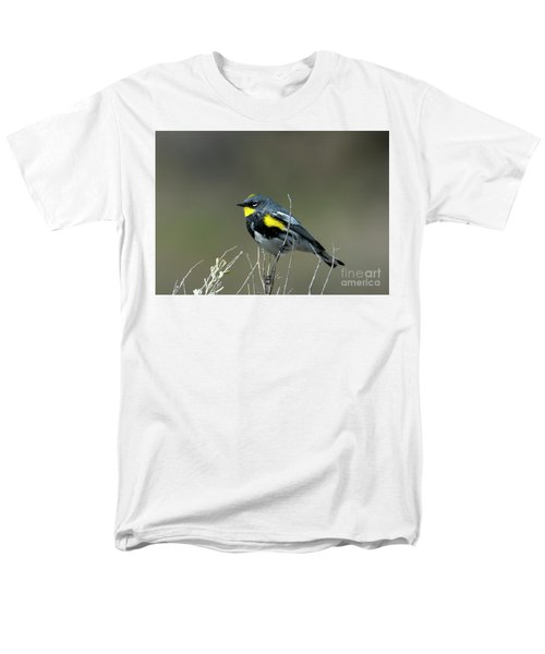 Yellow-rumped Warbler Men's T-Shirt  (Regular Fit) by Mike Dawson