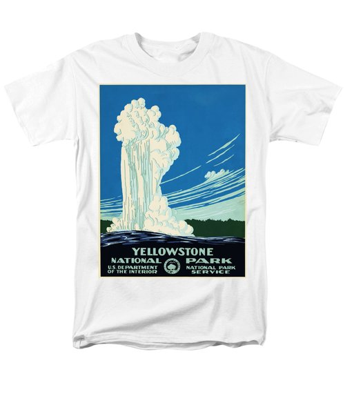 Yellow Stone Park - Vintage Travel Poster Men's T-Shirt  (Regular Fit) by Ipa