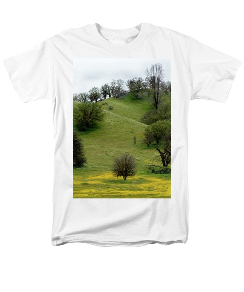 Yellow Wildflowers And Oak Trees Men's T-Shirt  (Regular Fit) by Roger Mullenhour