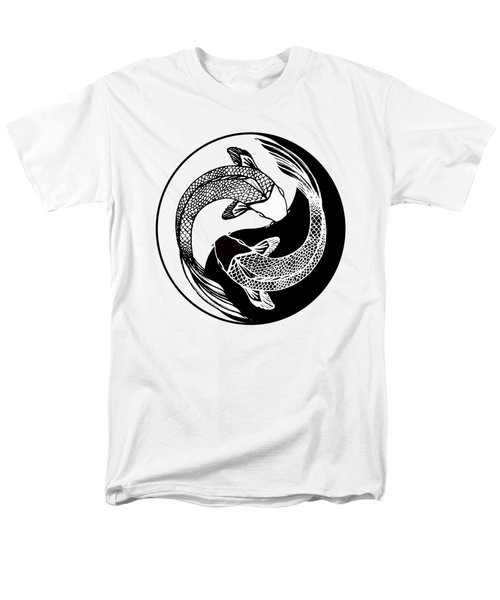 Yin Yang Fish Men's T-Shirt  (Regular Fit) by Stephen Humphries