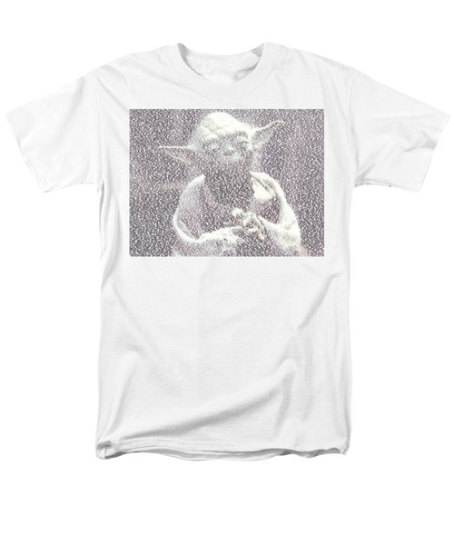 Yoda Quotes Mosaic Men's T-Shirt  (Regular Fit) by Paul Van Scott