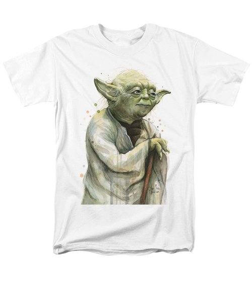 Yoda Watercolor Men's T-Shirt  (Regular Fit) by Olga Shvartsur