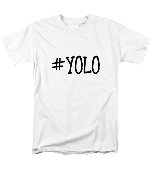 #yolo Men's T-Shirt  (Regular Fit) by Clare Bambers
