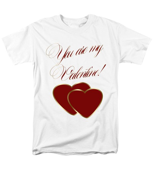 You Are My Valentine Digital Typography Men's T-Shirt  (Regular Fit) by Georgeta Blanaru