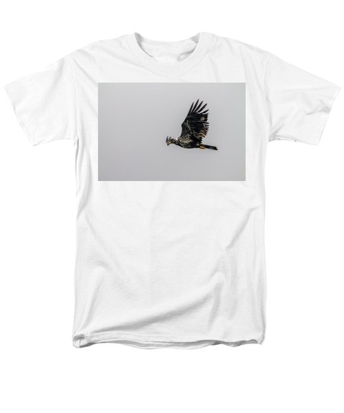 Young Eagle In Flight 07 Men's T-Shirt  (Regular Fit) by Timothy Latta
