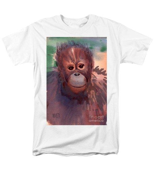 Young Orangutan Men's T-Shirt  (Regular Fit) by Donald Maier