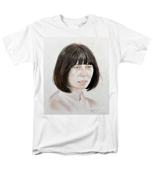 Men's T-Shirt  (Regular Fit) featuring the mixed media Young Vietnamese Woman by Jim Fitzpatrick