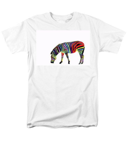 Men's T-Shirt  (Regular Fit) featuring the photograph Zebra In My Dreams by Bonnie Barry