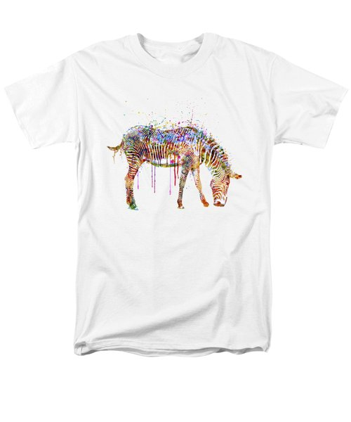 Zebra Watercolor Painting Men's T-Shirt  (Regular Fit) by Marian Voicu
