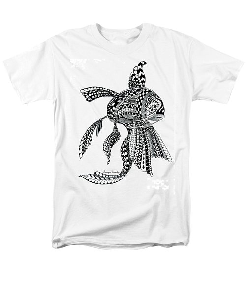 Men's T-Shirt  (Regular Fit) featuring the drawing Zen Goldfish by Tamyra Crossley