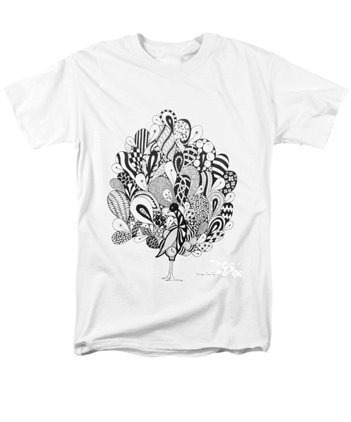 Men's T-Shirt  (Regular Fit) featuring the drawing Zen Peacock by Tamyra Crossley