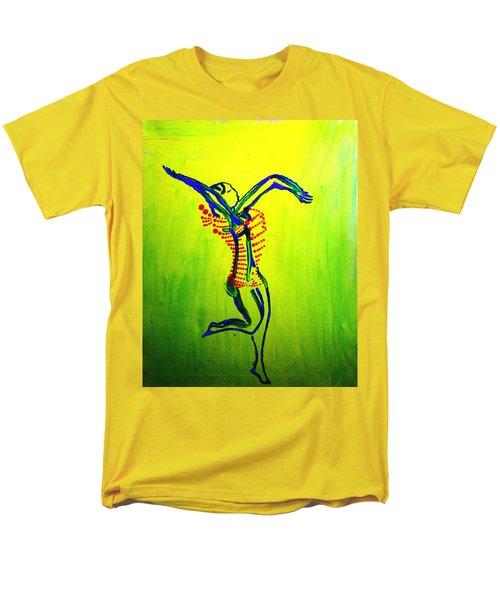 Dinka Dance - South Sudan Men's T-Shirt  (Regular Fit) by Gloria Ssali