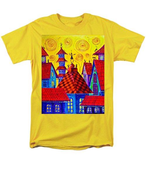 1099 Magic Town 4 - Gilded Men's T-Shirt  (Regular Fit) by Maxim Komissarchik
