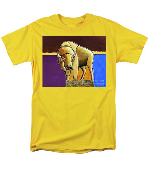 Men's T-Shirt  (Regular Fit) featuring the painting Buffalo 1 by Joseph J Stevens