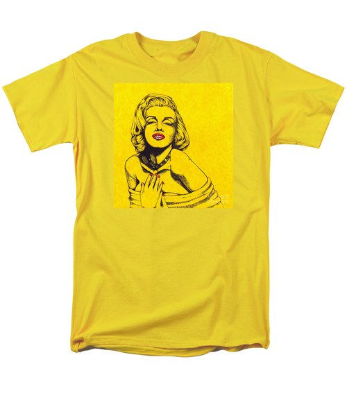 Marilyn In Yellow Men's T-Shirt  (Regular Fit) by Joseph Sonday