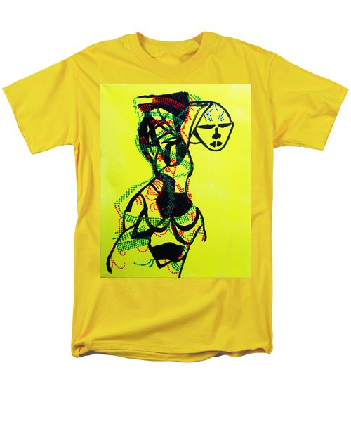 Dinka Lady - South Sudan Men's T-Shirt  (Regular Fit) by Gloria Ssali