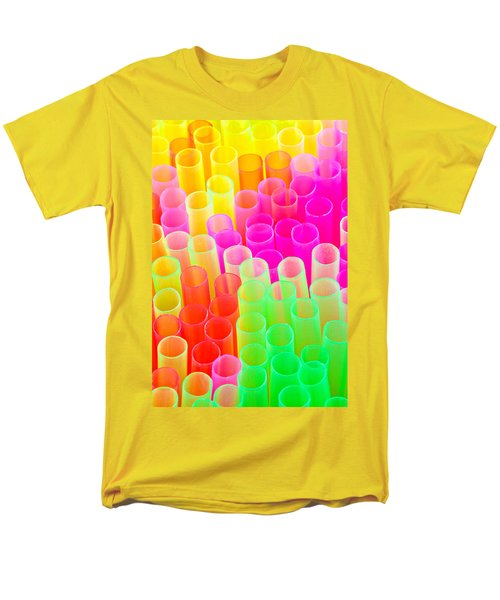 Men's T-Shirt  (Regular Fit) featuring the photograph Abstract Drinking Straws #2 by Meirion Matthias