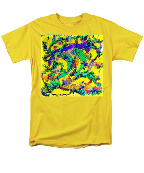 Men's T-Shirt  (Regular Fit) featuring the digital art Alien Dna by Alec Drake