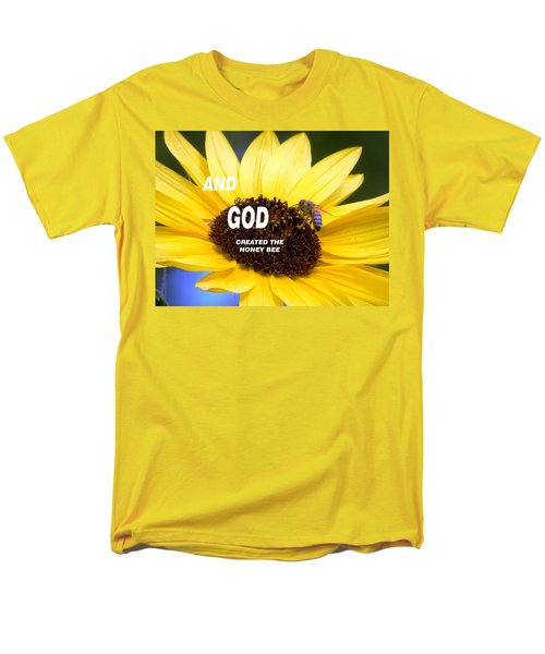 And God Created The Honey Bee Men's T-Shirt  (Regular Fit) by Belinda Lee