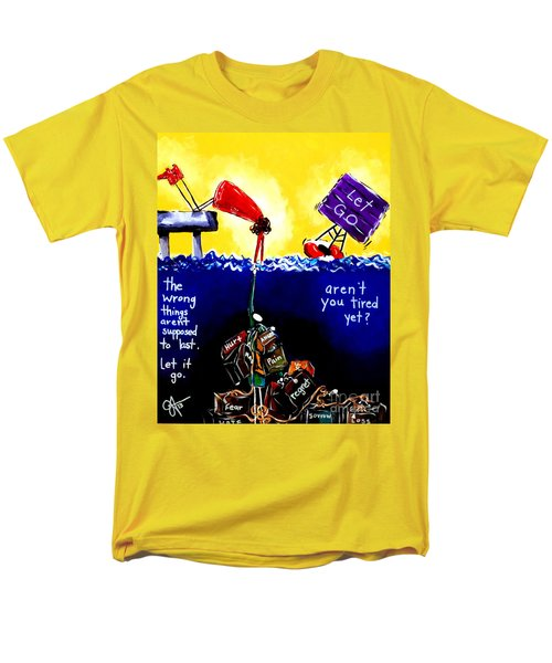 Men's T-Shirt  (Regular Fit) featuring the painting Aren't You Tired Yet? by Jackie Carpenter