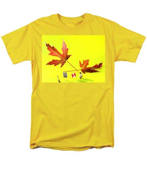 Artist De Imagination Little People Big Worlds Men's T-Shirt  (Regular Fit) by Paul Ge