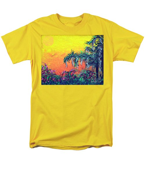 Men's T-Shirt  (Regular Fit) featuring the painting Bayou Honeymoon by Alys Caviness-Gober