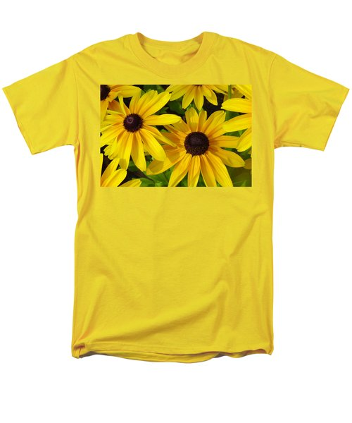 Black Eyed Susans Men's T-Shirt  (Regular Fit) by Suzanne Gaff