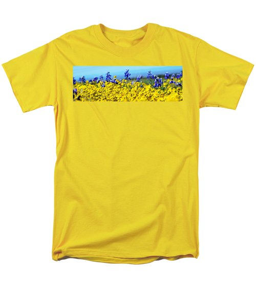 Blue And Yellow Wildflowers Men's T-Shirt  (Regular Fit)
