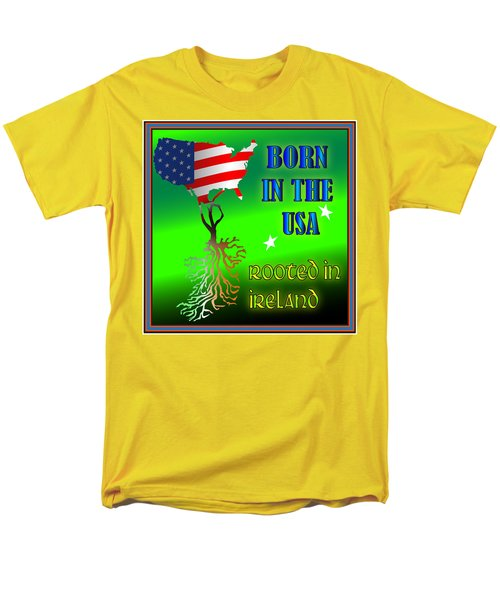 Born In The Usa Rooted In Ireland Men's T-Shirt  (Regular Fit) by Ireland Calling
